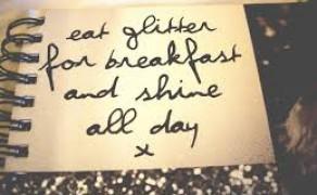 Eet glitters als ontbijt en schitter de hele dag!